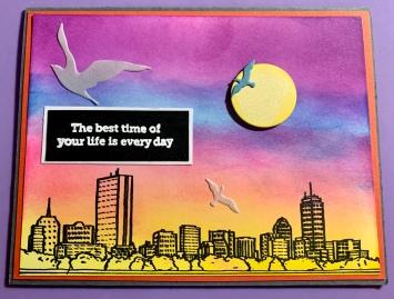 #2 Cityscape Sunset Multi Use Card
