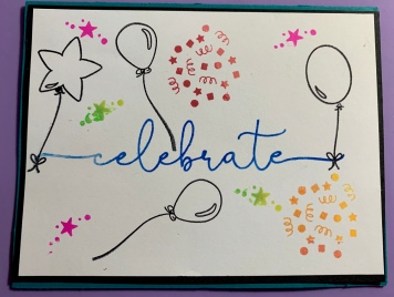 #4 Celebrate Balloon Birthday Card
