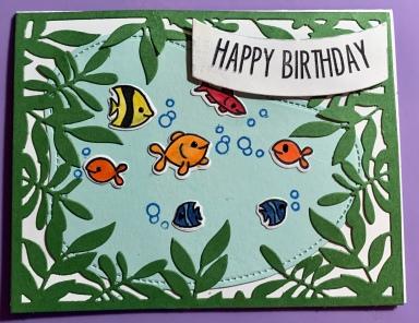 #7 Pond Fish Birthday Card