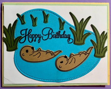 #6 Otter Birthday Card