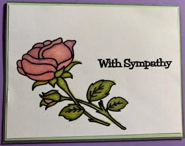 #1 Copic Rose Sympathy Card