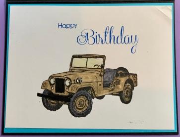 Jeep Birthday Handmade Card
