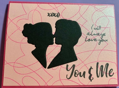 """You & Me"" Homemade Valentine's Day Card"