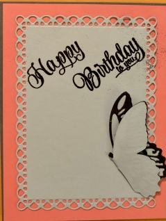 Butterfly Birthday card, of course w/o all the writing